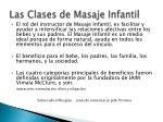 las clases de masaje infantil