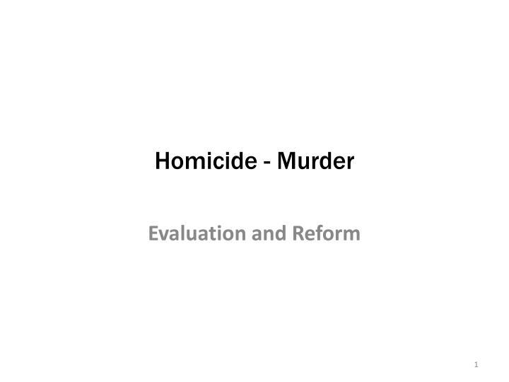 homicide murder n.