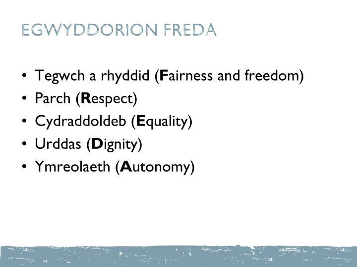 EGWYDDORION FREDA