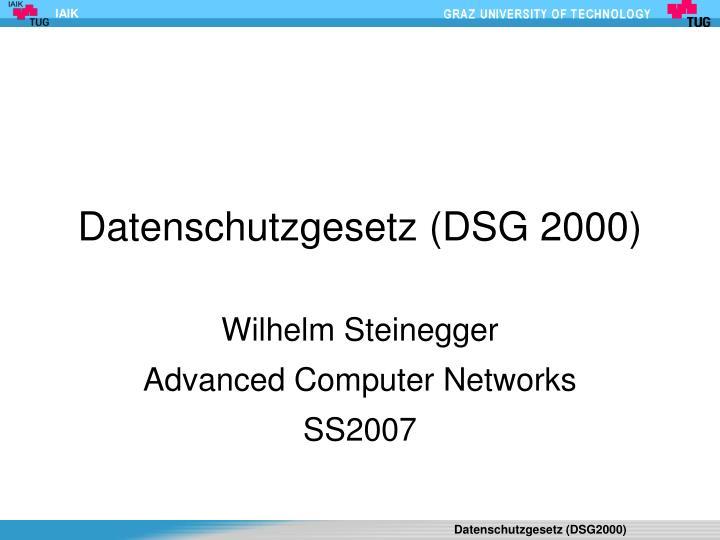 datenschutzgesetz dsg 2000 n.