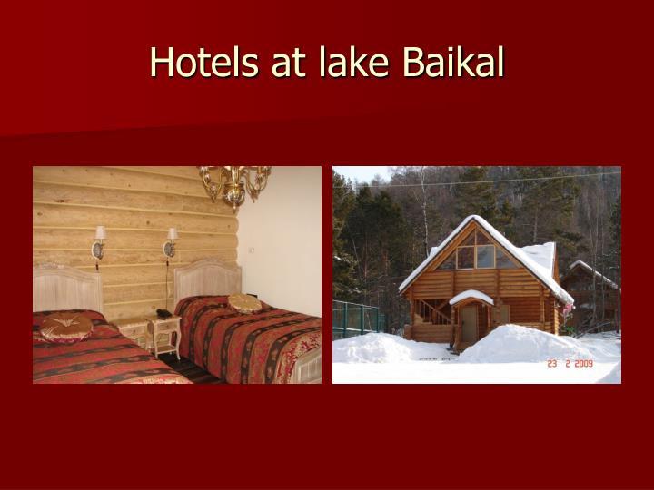 Hotels at lake Baikal