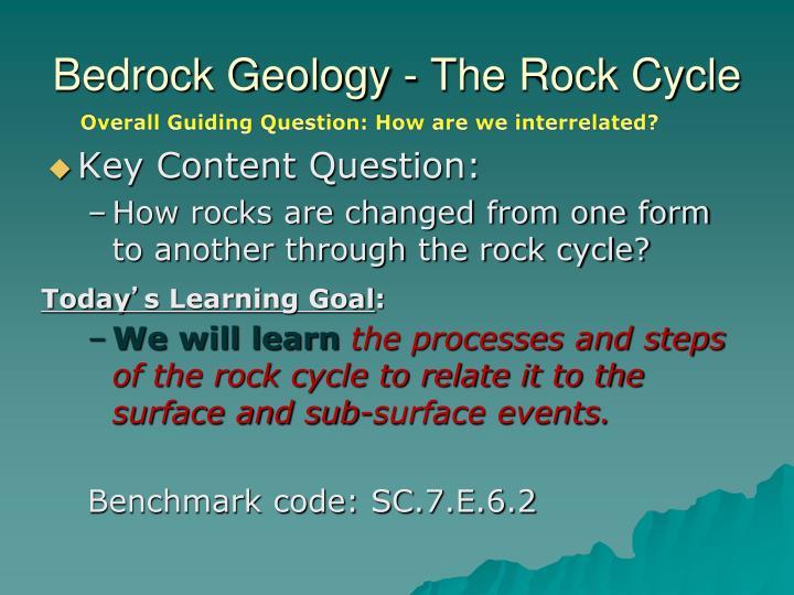 Bedrock geology the rock cycle