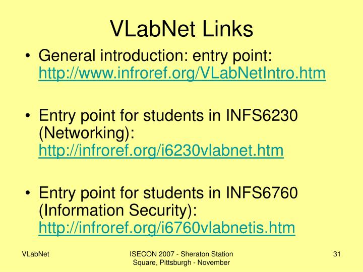 VLabNet Links