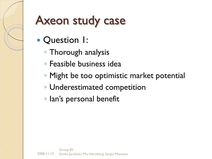 axeon case study Case studies home case studies combining a cloud-based software platform with rugged gps tracking devices and global satellite and cellular networks.