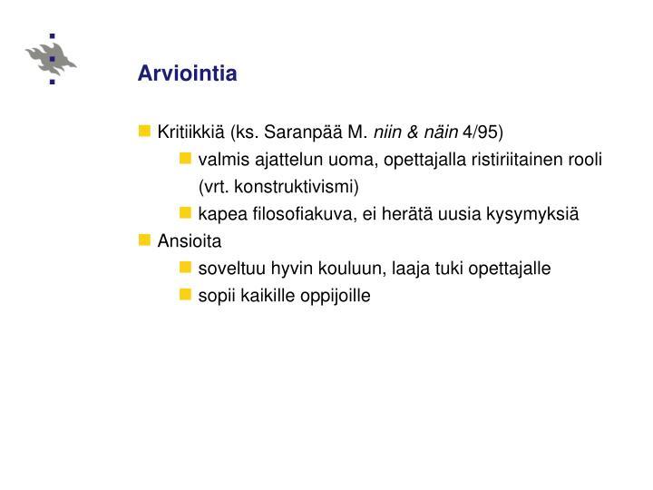 Arviointia