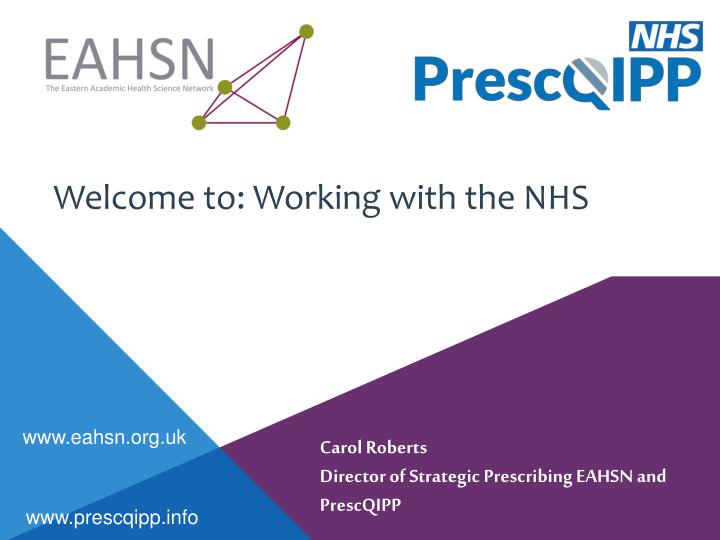 Welcome to working with the nhs