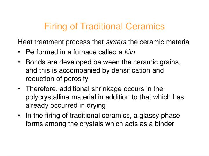 Firing of Traditional Ceramics