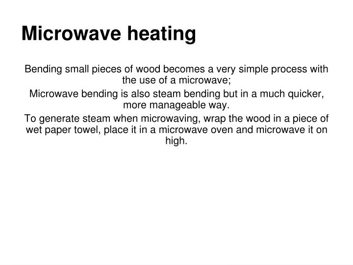 Microwave heating