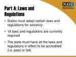 part a laws and regulations