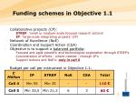 funding schemes in objective 1 1