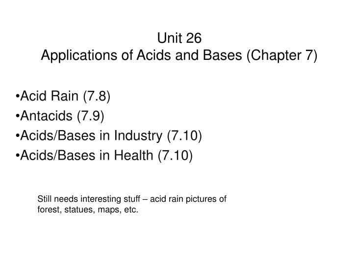 unit plan on acids and bases Ib chemistry on acids and bases ib chemistry on acids and bases arrhenius theory concentrated -----high number of moles per unit volume.