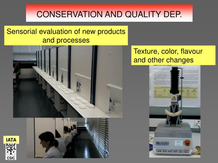 Sensorial evaluation of new products and processes