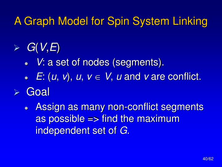 A Graph Model for Spin System Linking