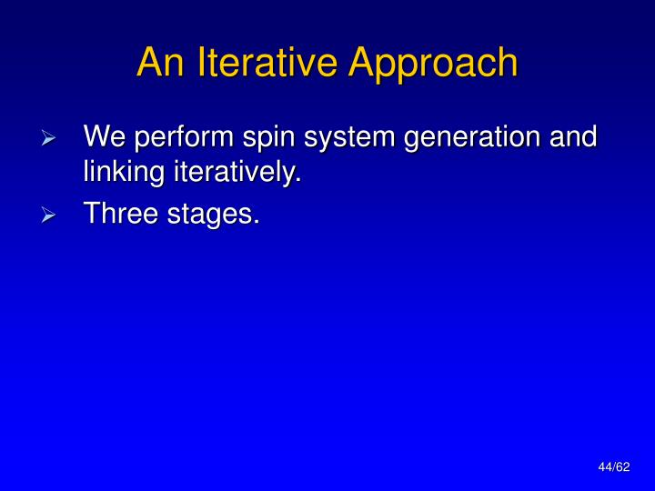 An Iterative Approach