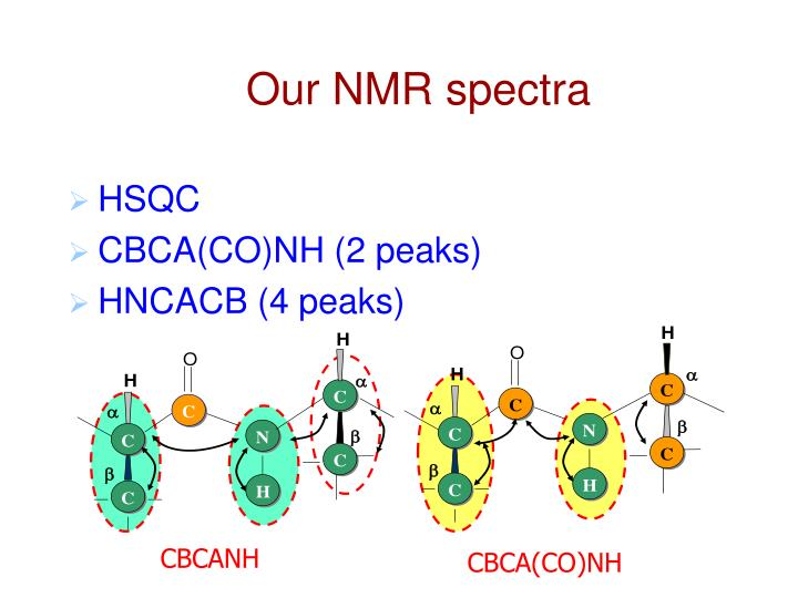 Our NMR spectra
