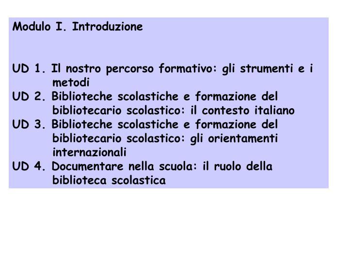 Modulo I. Introduzione