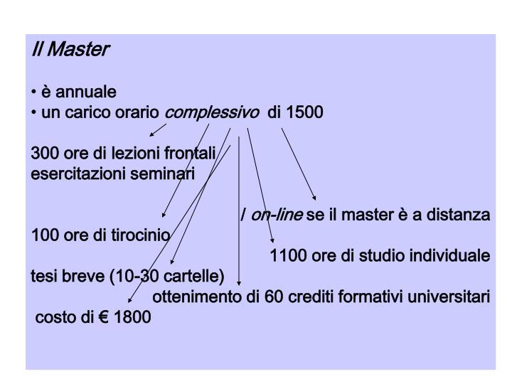 Il Master