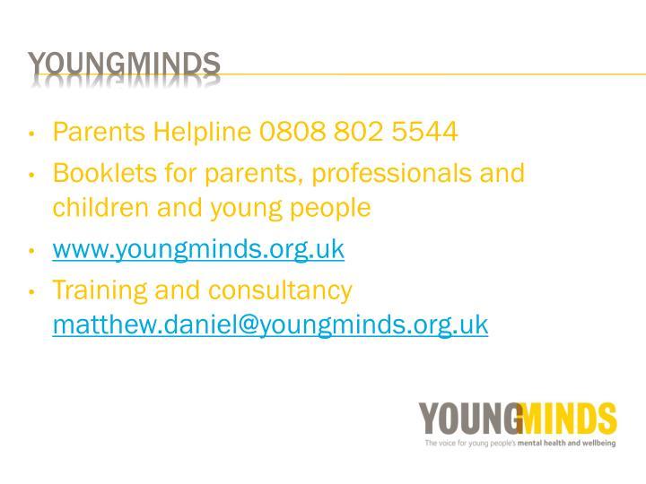 Parents Helpline 0808 802 5544