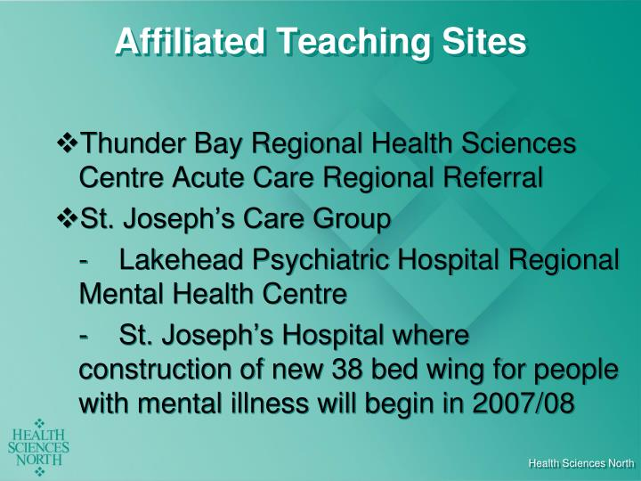Affiliated Teaching Sites