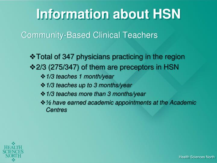 Information about HSN