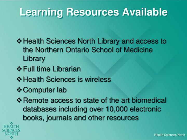 Learning Resources Available