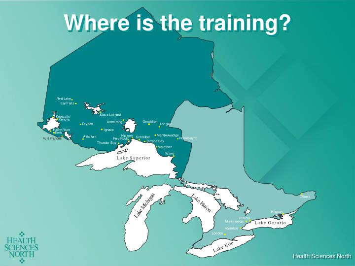 Where is the training