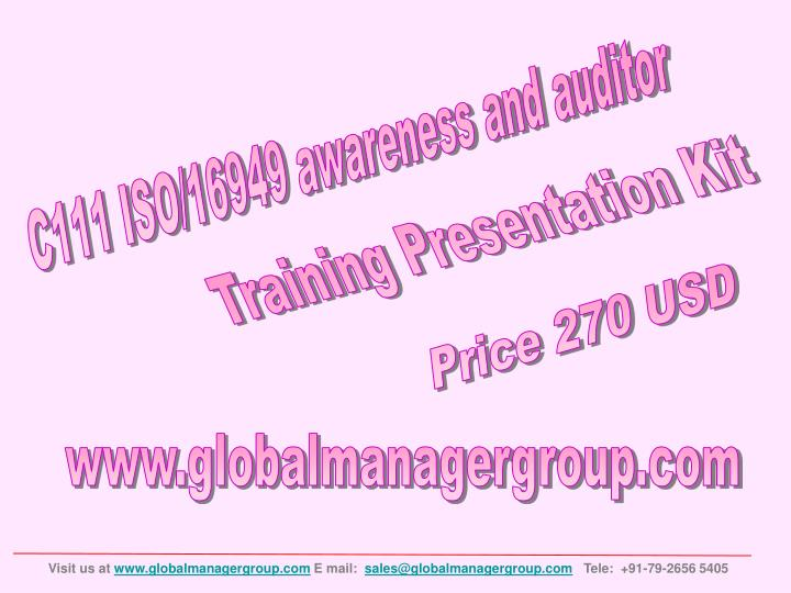 C111 ISO/16949 awareness and auditor