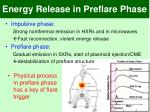 energy release in preflare phase