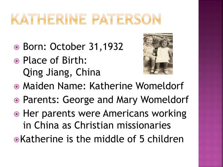 Katherine paterson1