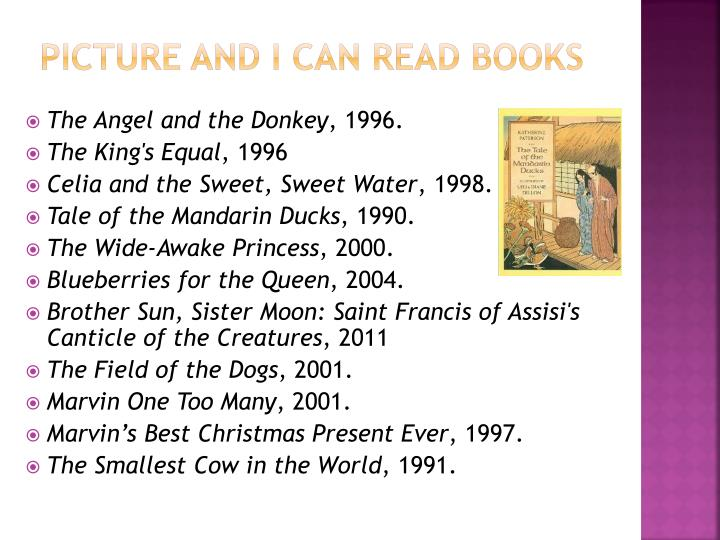 Picture and I can read Books