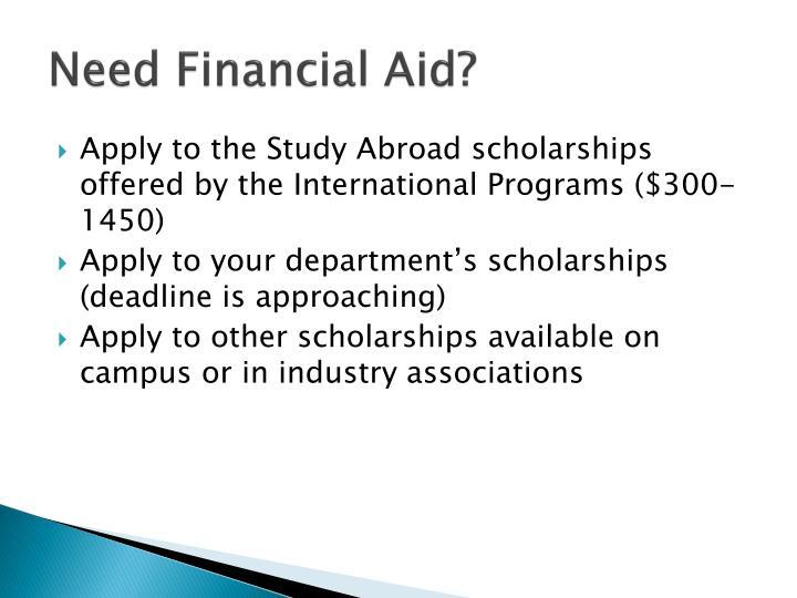 Need Financial Aid?
