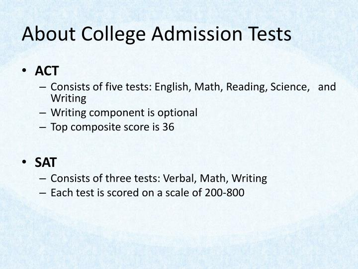 About College Admission Tests