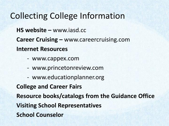 Collecting College Information