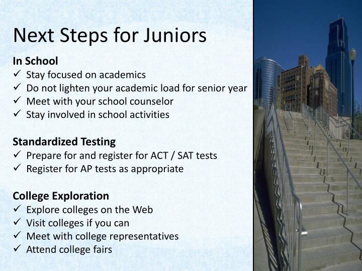Next Steps for Juniors