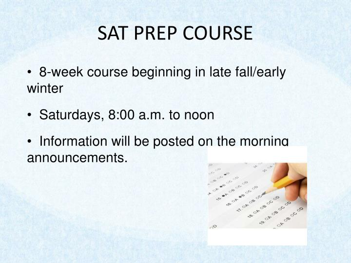SAT PREP COURSE