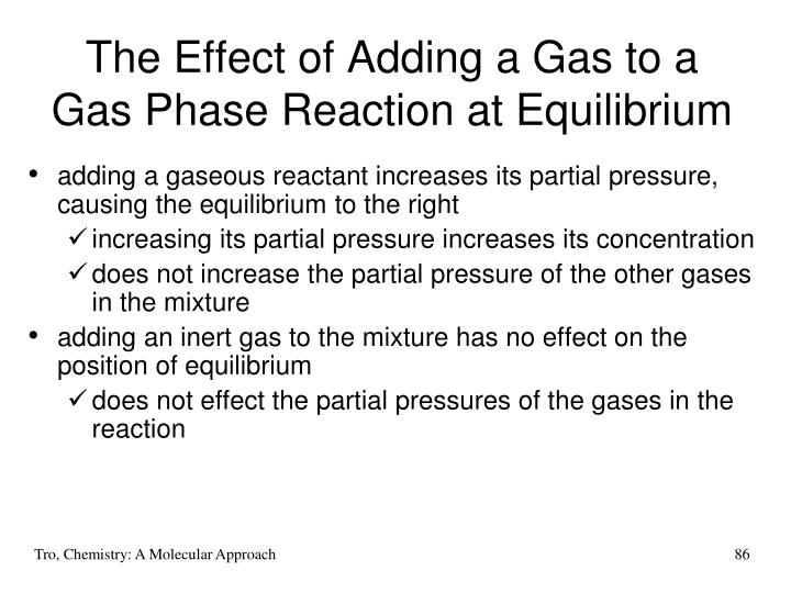 The Effect of Adding a Gas to a
