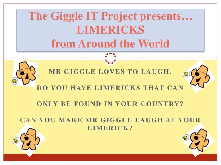 the giggle it project presents limericks from around the world n.