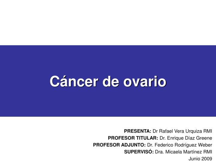 cancer epitelial de ovario ppt)