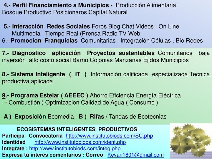 4.- Perfil Financiamiento a Municipios