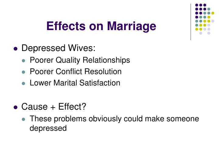 Effects on Marriage