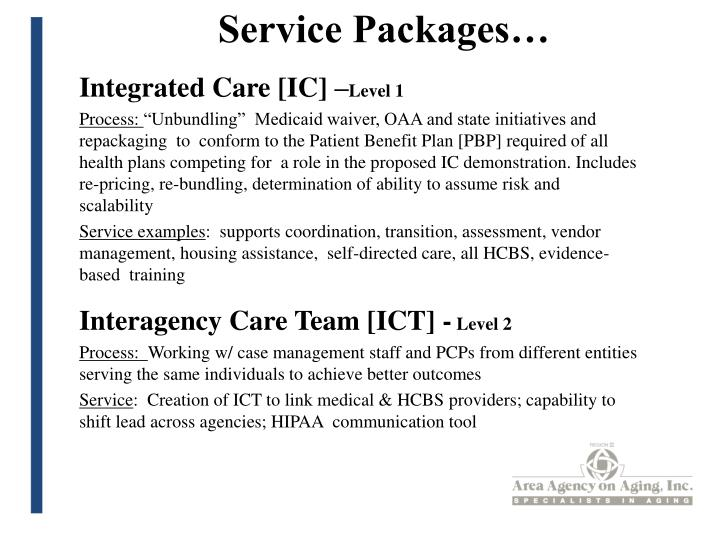Service Packages…