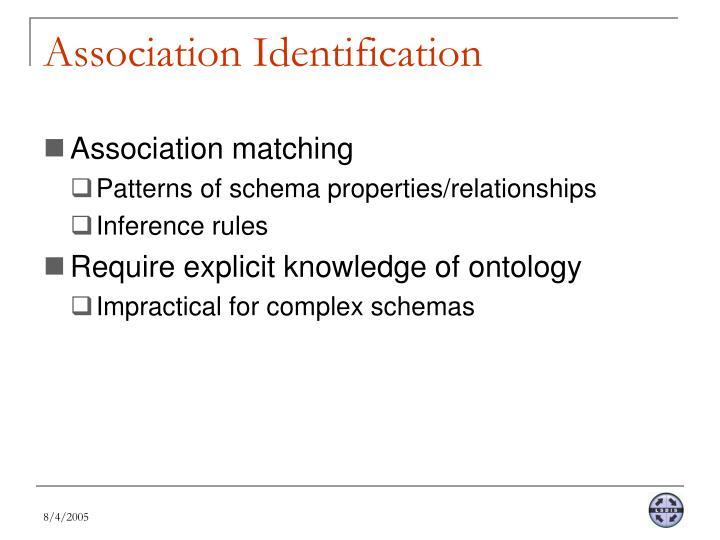 Association Identification