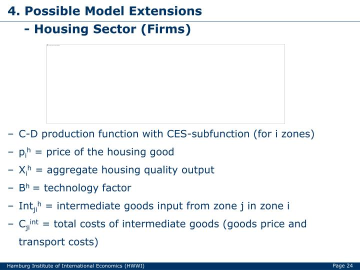 4. Possible Model Extensions