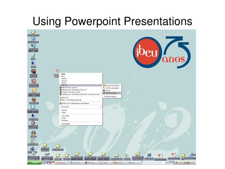 Using Powerpoint Presentations