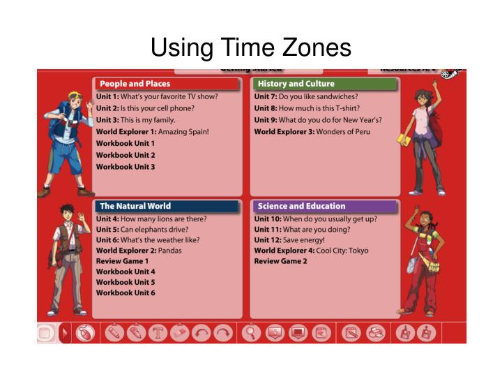 Using Time Zones