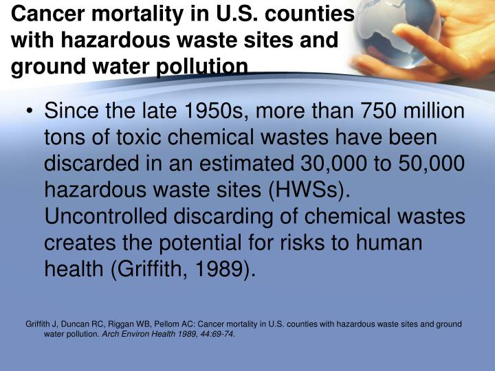 Cancer mortality in U.S. counties with hazardous waste sites and ground water pollution