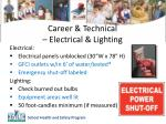 career technical electrical lighting