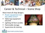 career technical scene shop