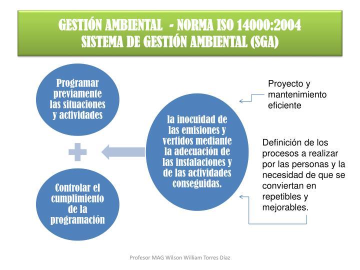 GESTIÓN AMBIENTAL  - NORMA ISO 14000:2004