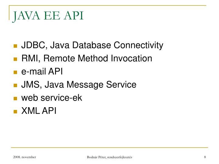 JAVA EE API